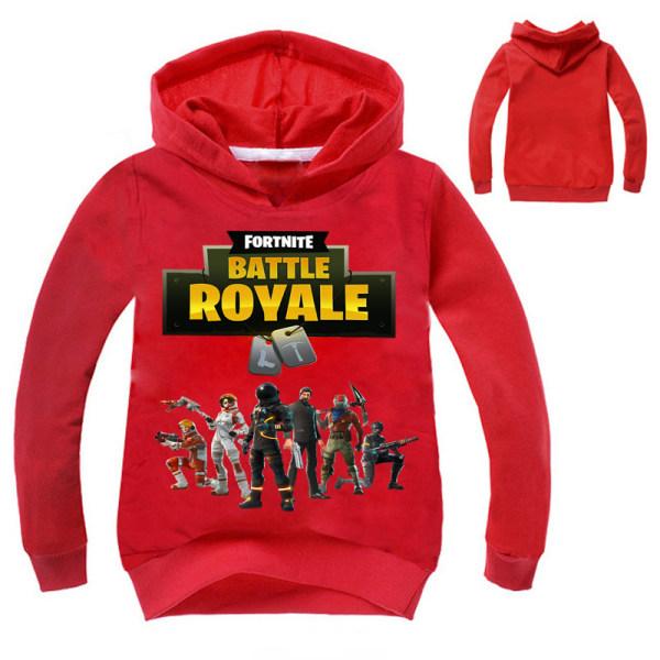 Halloween Party Cosplay Children Cute Fortnite Hero Sweatshirt red 130cm