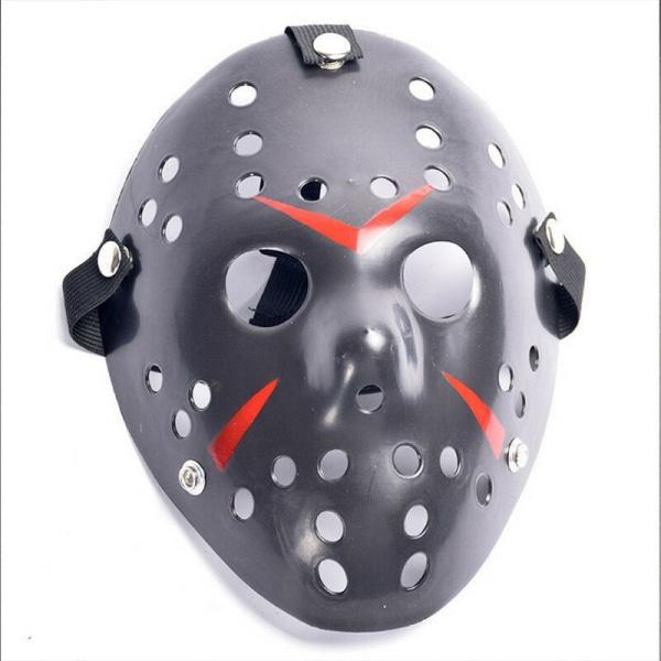 Halloween-fest Jason Vorhees målad hockeymask Black