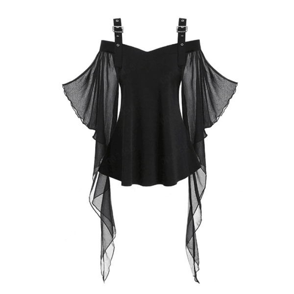 Halloween Sexy Off Shoulder Witch Top Women black M