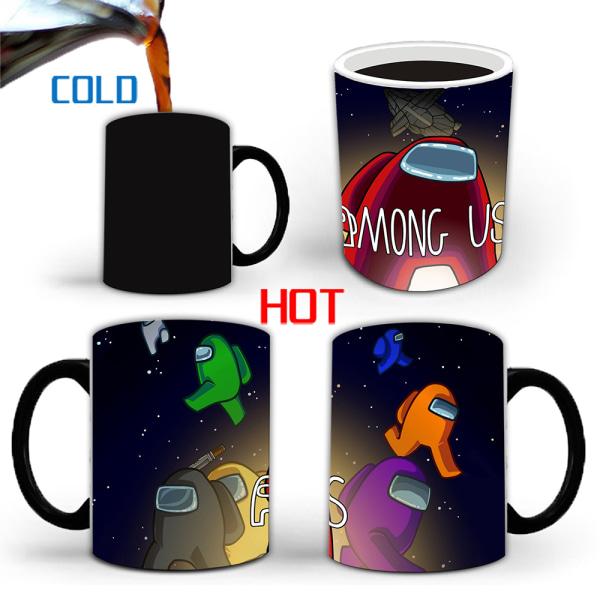 Impostor Game Among Us Hot Cool Color Changing Mug Kids Gift B