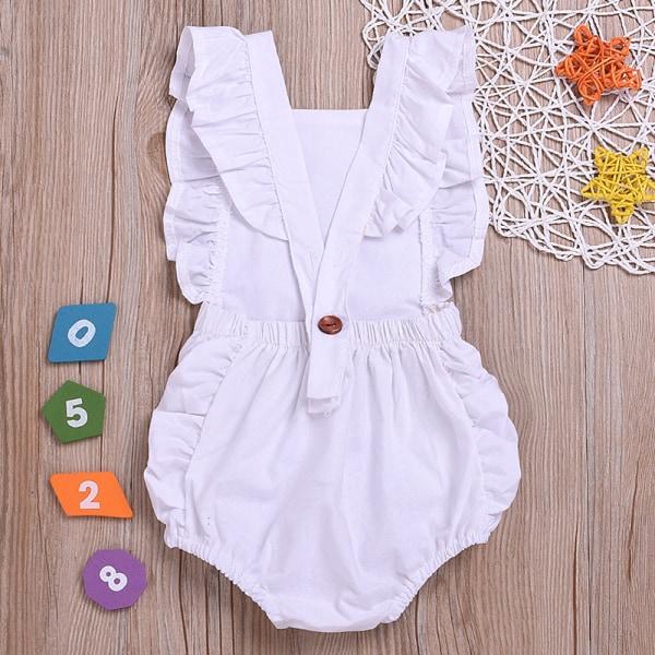 Inflant Baby Ruffle Bodysuit Jumpsuit Pink 90 cm
