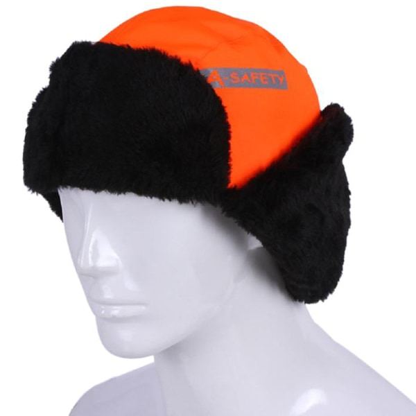 Kids Adults High Visable Reflectives Warm Hat Visibility Hat orange