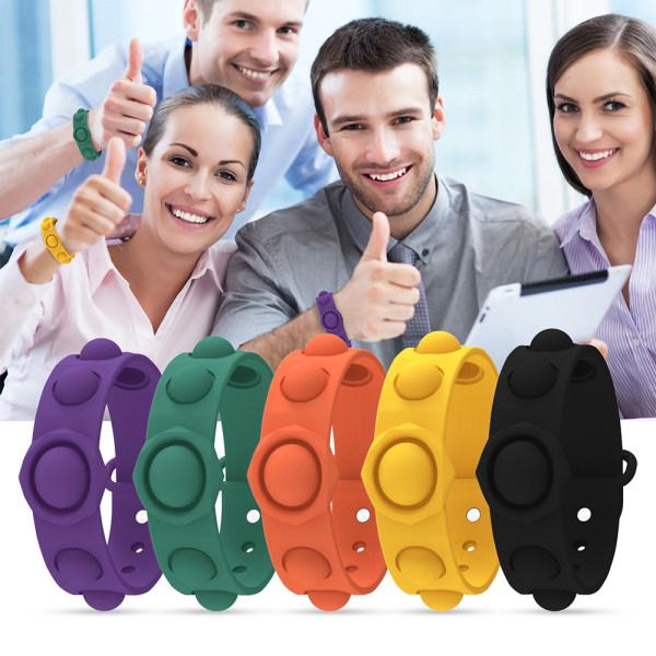 Barn Vuxna Push Pop It Fidget Toy Sensoriskt armband / armband Purple