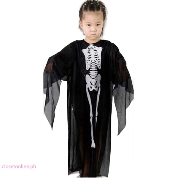 Kids Boys Festival Outfits Performance Cosplay Set Skeleton M