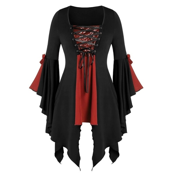 Ladies Halloween Witch Cosplay Costume Sequined red M