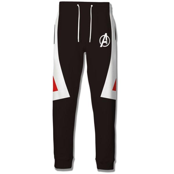 Marvel Avengers 4 3D-tryckta herrtröjor herrtröja T-shirtrock pants A XL