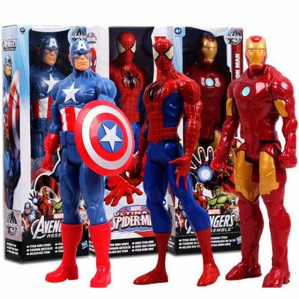 Marvel Avengers Super Hero Action Figure Spider-Man Toys Kid Superman