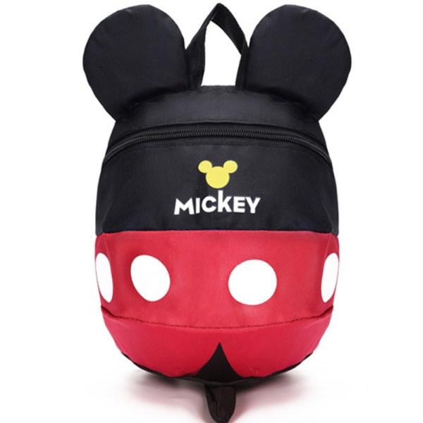 Mickey Cartoon skolväskor Barn Ryggsäck Rose Red