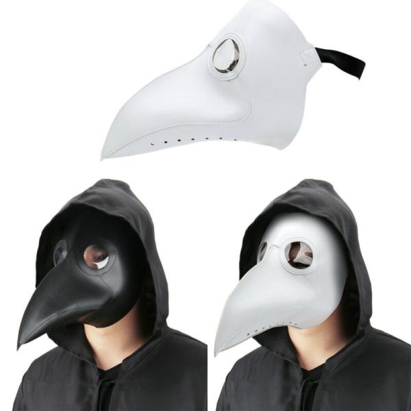 Pestläkarmask Fågel Lång näsa näbb Halloween-fest Black