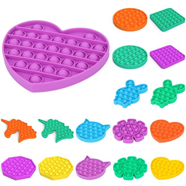 Pop It Fidget Toy-Several Colors Stress Sensorisk Kid Game purple-love