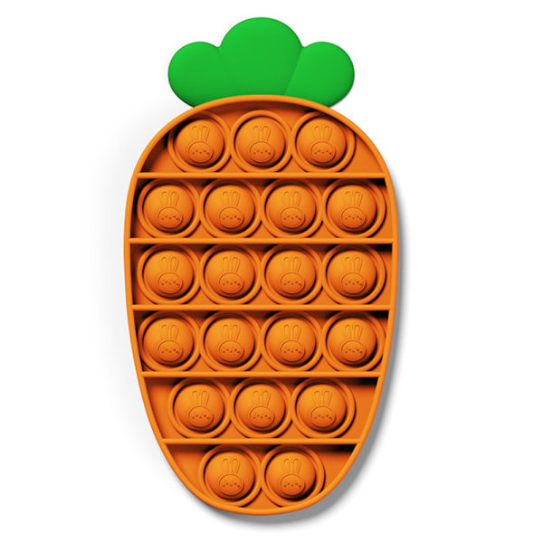 Pop It Push Bubble Fidget Toys Sensory Family Kid Toy Game Gift Carrot