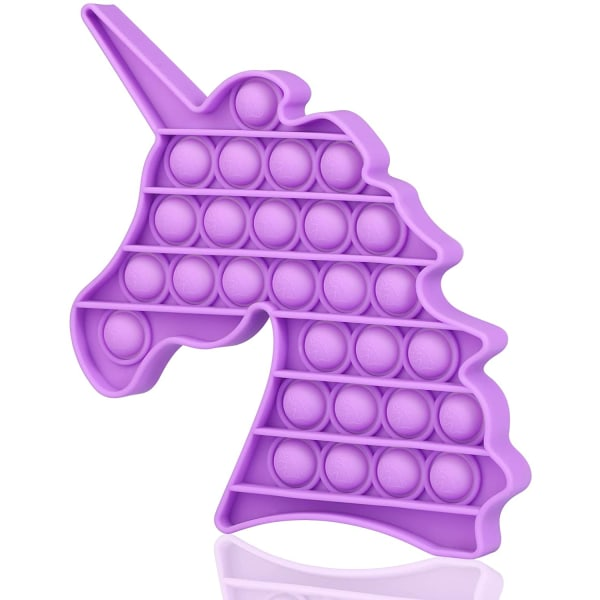 Push Pop It Bubble Wrap Fidget Stress Reliefs Sensory Toys Purple - Unicorn