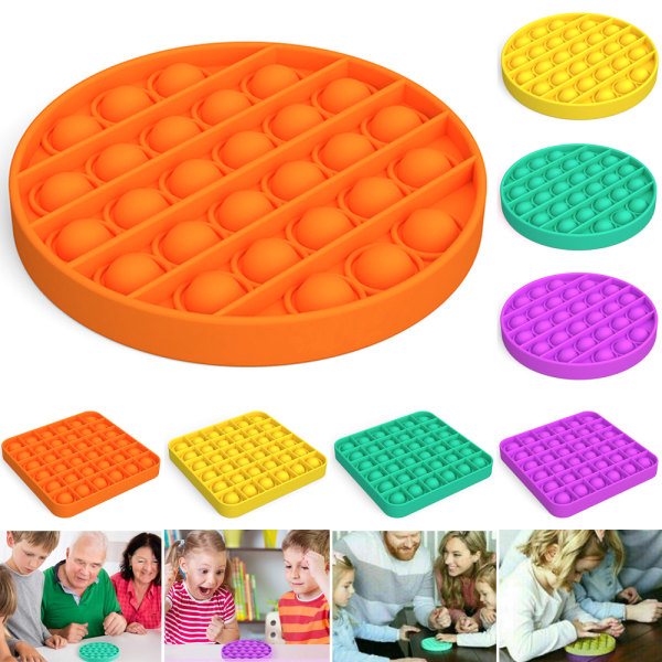 Family Kids Toys Pop it Fidget Toy Bubble Sensory Toy Green Square