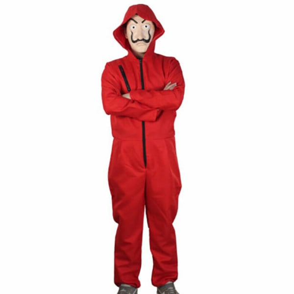 Salvador Dali La Casa De Papel Cosplay Money Heist Jumpsuit  Costume+Mask L