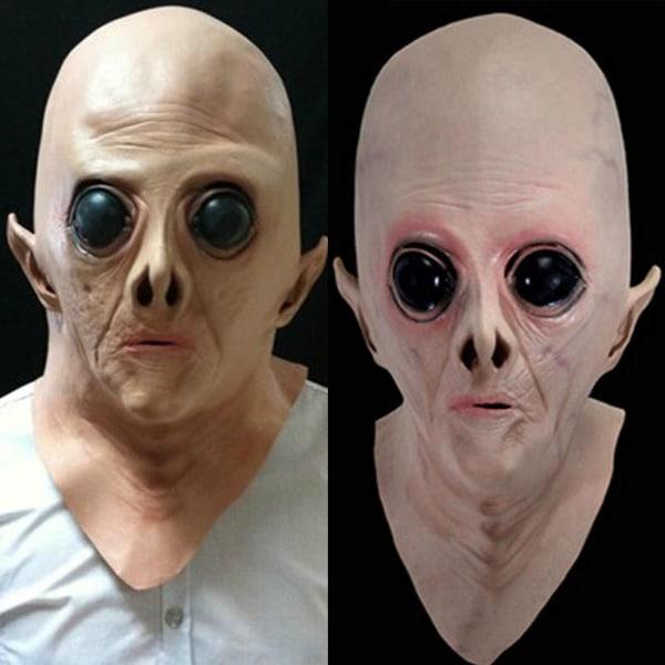 Scary UFO Alien Halloween Party Cosplay Full Head Mask