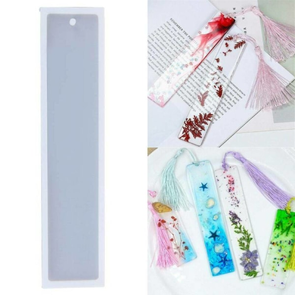 Silicone Bookmark Mold Making Resin Jewelry DIY Craft Mould