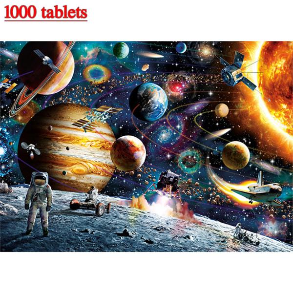 1000 Pieces Space Traveler Jigsaw Puzzle Kids Children Game