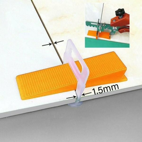 800st kakelnivelleringsavståndssystem Clips Wedges Wall Flooring 800PCS(1.5mm)