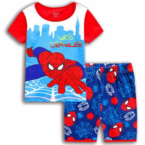 Småbarn Pojkar Spiderman Superhjälte Pyjamas T-shirt Shorts Red 5-6 Years