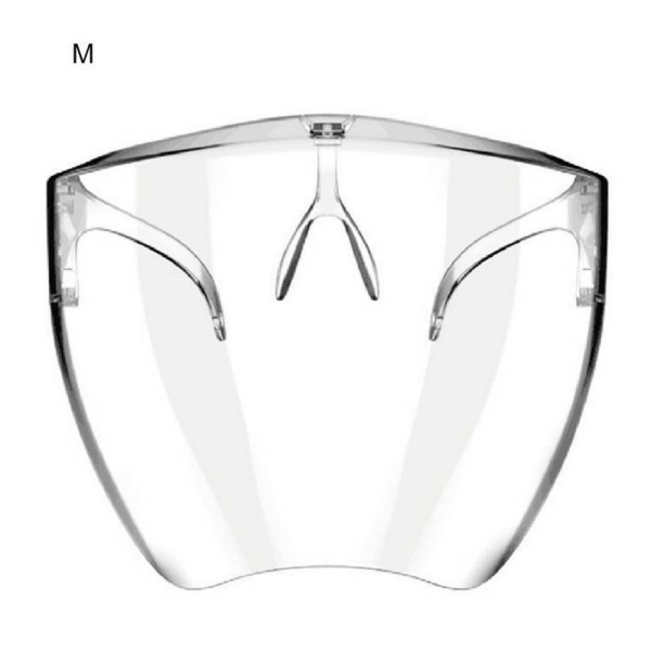 Transparent Clear Protective Visors Plastic Glasses Mouth Cover M