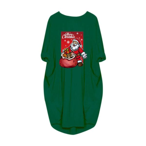 Womens Long Sleeve Casual Midi Dress Christmas Long Tops Dress Yellow L