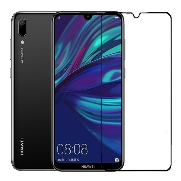 Skärmskydd Carbon 10-PACK Screen-Fit 3D/HD 9H Huawei Y6 2019 Svart