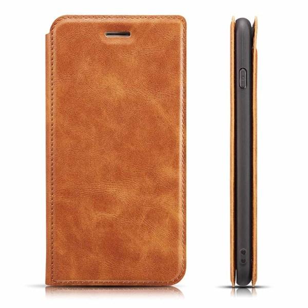 iPhone 11 Pro - Retro Stilrent Plånboksfodral Brun