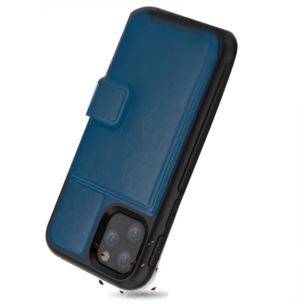 iPhone 11 Pro Max - Praktiskt Skyddsskal med Kortfack Blå Blå
