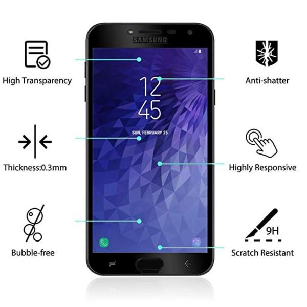 Samsung Galaxy J4 2018 2-PACK Skärmskydd 3D 9H HD-Clear ProGuard Svart