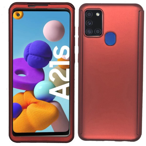 Samsung Galaxy A21S - Dubbelskal Roséguld