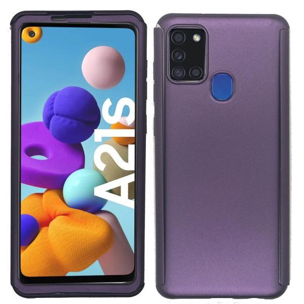 Samsung Galaxy A21S - Dubbelskal Lila