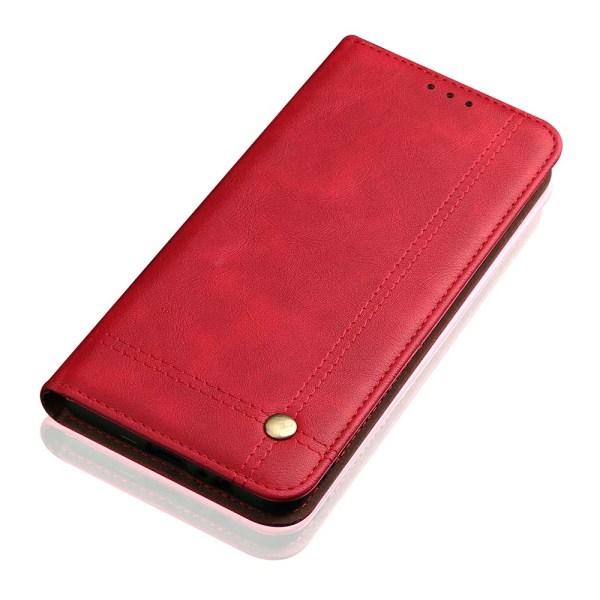 Skyddande Smidigt Plånboksfodral Leman - Samsung Galaxy A40 Röd