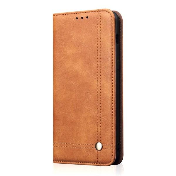 Skyddande Smidigt Plånboksfodral Leman - Samsung Galaxy A40 Ljusbrun