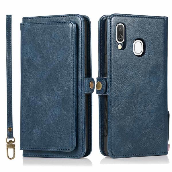 Samsung Galaxy A40 - Robust Plånboksfodral Dubbelfunktion Brun