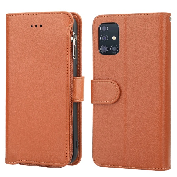 Samsung Galaxy A51 - Elegant Plånboksfodral Brun
