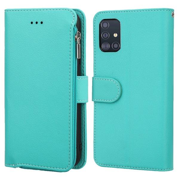 Professionellt Stilrent Plånboksfodral - Samsung Galaxy A51 Grön