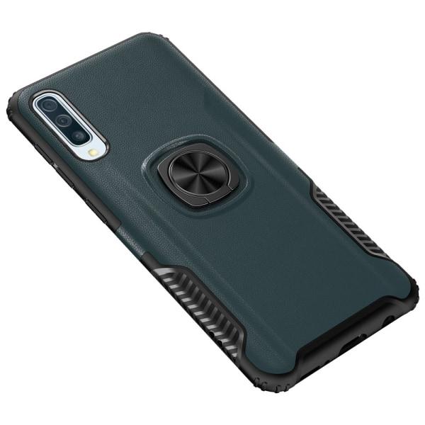 Samsung Galaxy A70 - Praktiskt Skyddsskal med Ringhållare Petrol