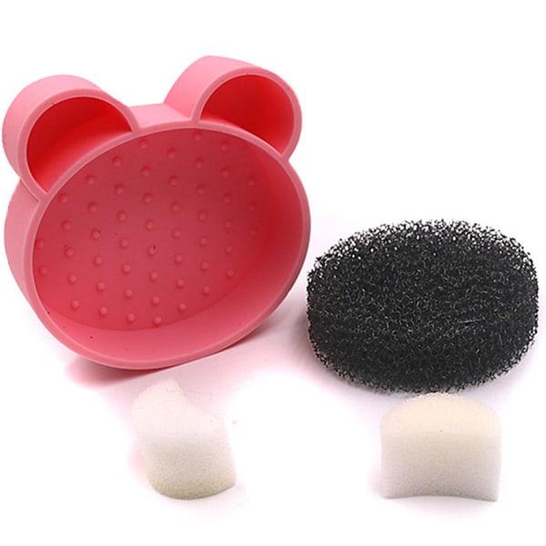 Effektfull Borste för Sminkborstar Rosaröd
