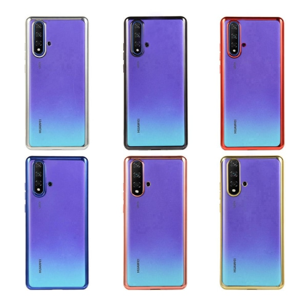 Elegant Skyddande Silikonskal - Huawei Nova 5T Guld