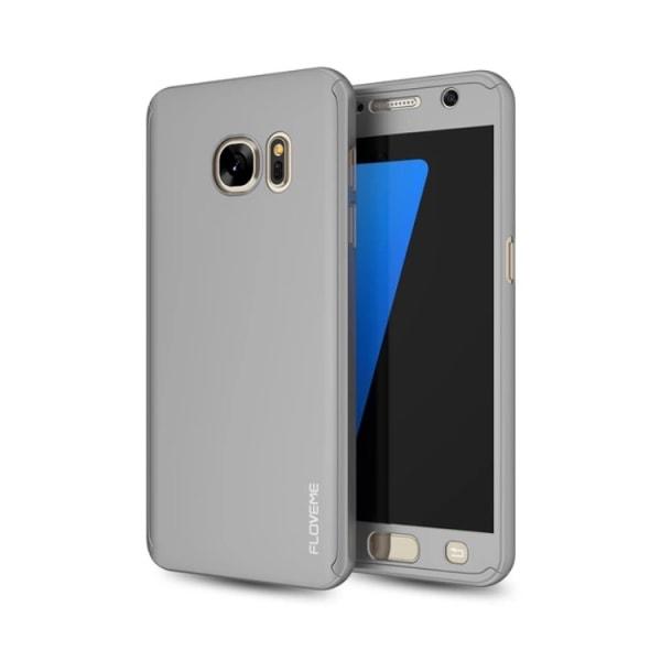 Praktiskt Elegant Skyddsfodral för Galaxy S7 Silver/Grå