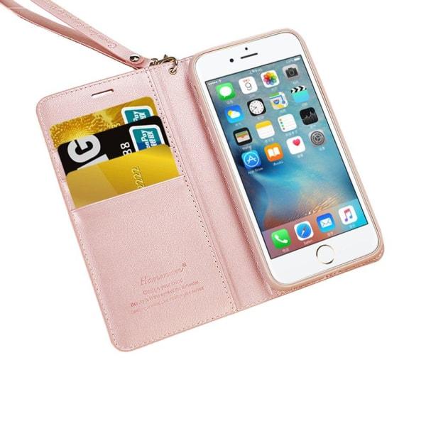 Hanman Plånboksfodral till iPhone 7 Plus Ljusrosa