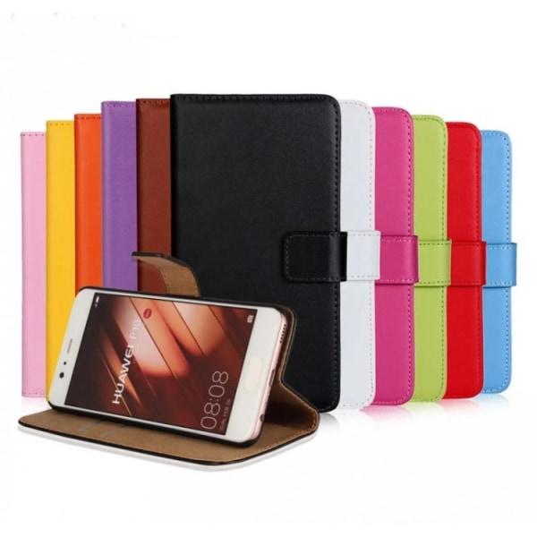 Huawei P10 Plus - Stilrent Plånboksfodral från ROYBAN (Läder) Röd
