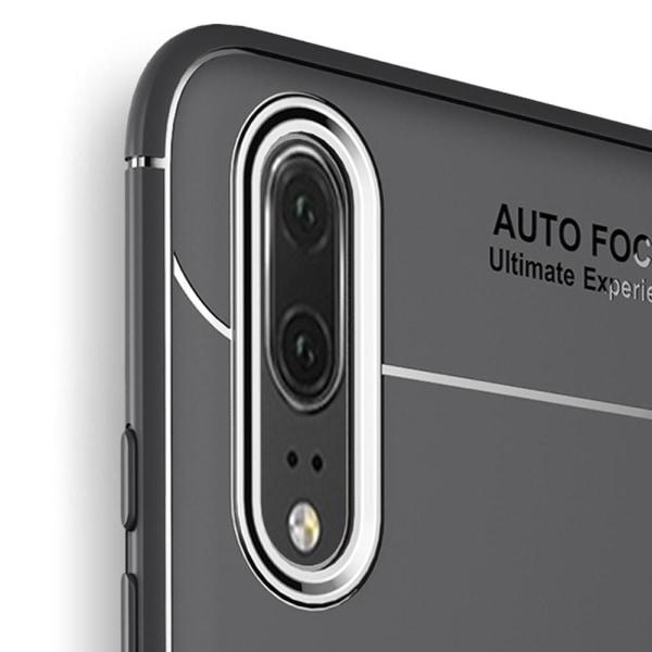 Huawei P20 Pro - AUTO FOCUS - Skal med Ringhållare Svart/Röd