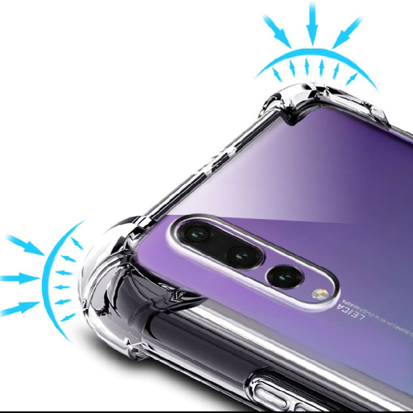 Huawei P20 Pro - Tunt Silikonskal med Airbagfunktion Transparent/Genomskinlig