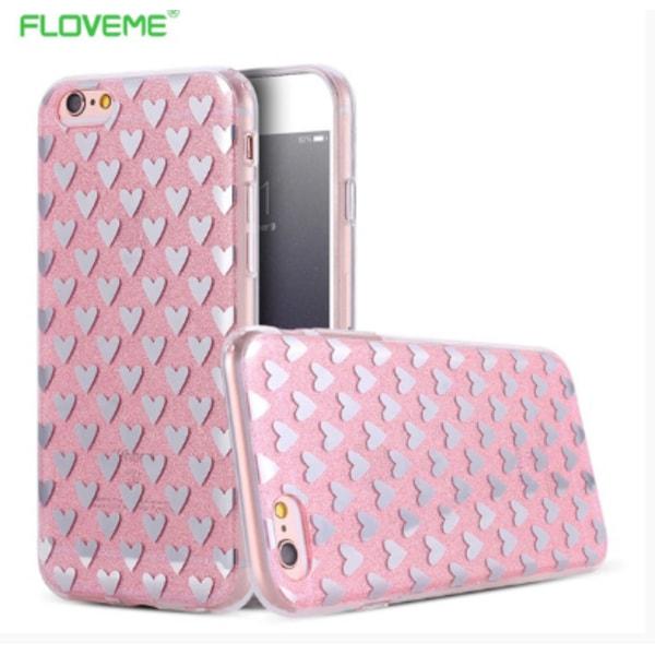 iPhone 6/6S PLUS Elegant Crystalheart-skal från FLOVEME ORIGINAL Silver/Grå