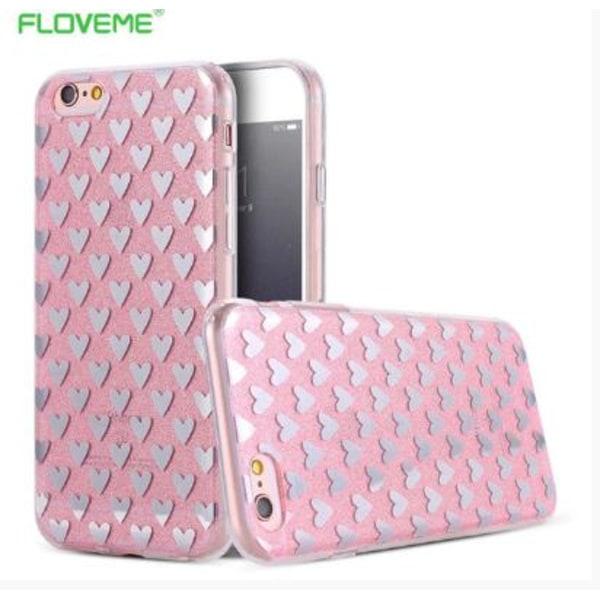 iPhone 6/6S PLUS Elegant Crystalheart-skal från FLOVEME ORIGINAL Rosa