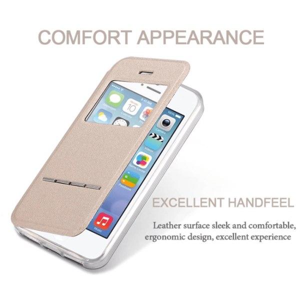 iPhone 5C - Elegant Fodral med Svarsfunktion Rosa