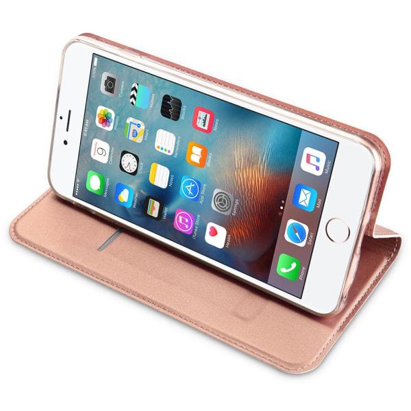 DUX DUCIS Stilrent Fodral med Kortfack - iPhone 6/6S Guld