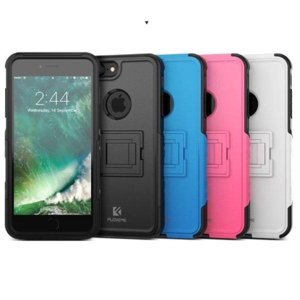 iPhone 7 PLUS - FLOVEMES Hybridskal (Stötdämpning) Hot Pink