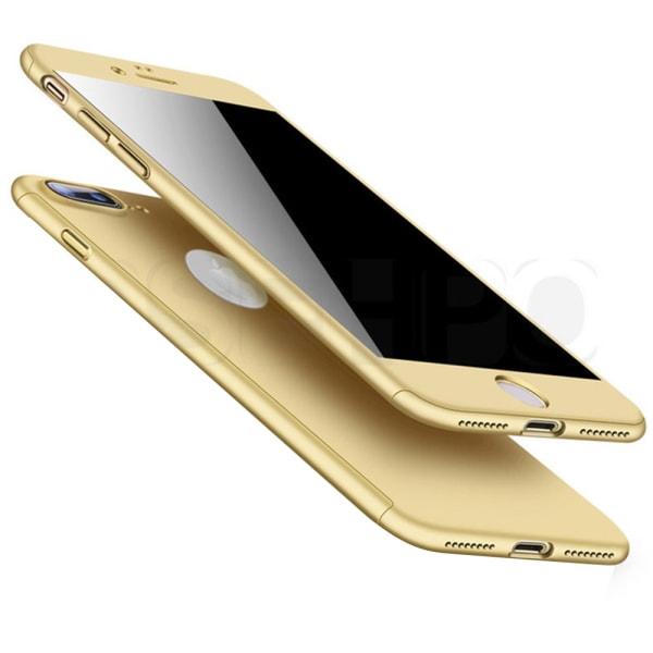 Praktiskt Skyddsfodral för iPhone 7 PLUS (Fram och bak) Guld